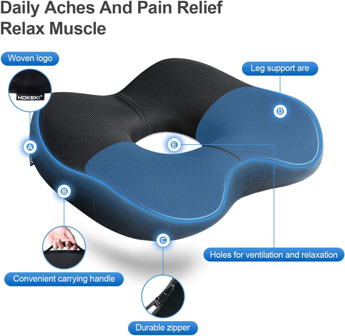 71Qoya T2CL. AC SL1280 - What Is The Best Car Seat Cushion For Leg Pain? - ChairPicks