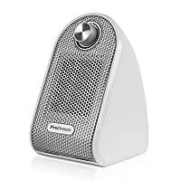 Pro Breeze® Mini Radiateur Soufflant Compact pour Les Bureaux et Les Tables - Chauffage d'appoint Céramique PTC, Blanc