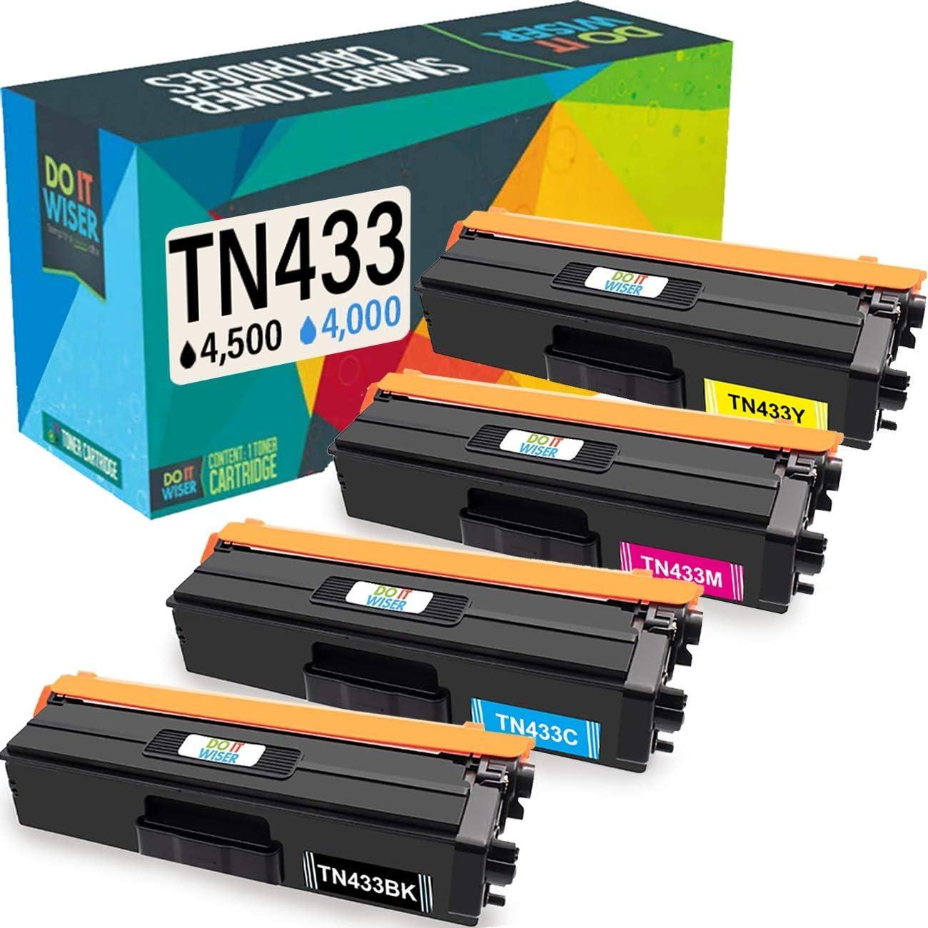 2pk TN433 TN431 Bk Toner Cartridge For Brother HL-L8260CDW L8360CDW MFC-L8610CDW