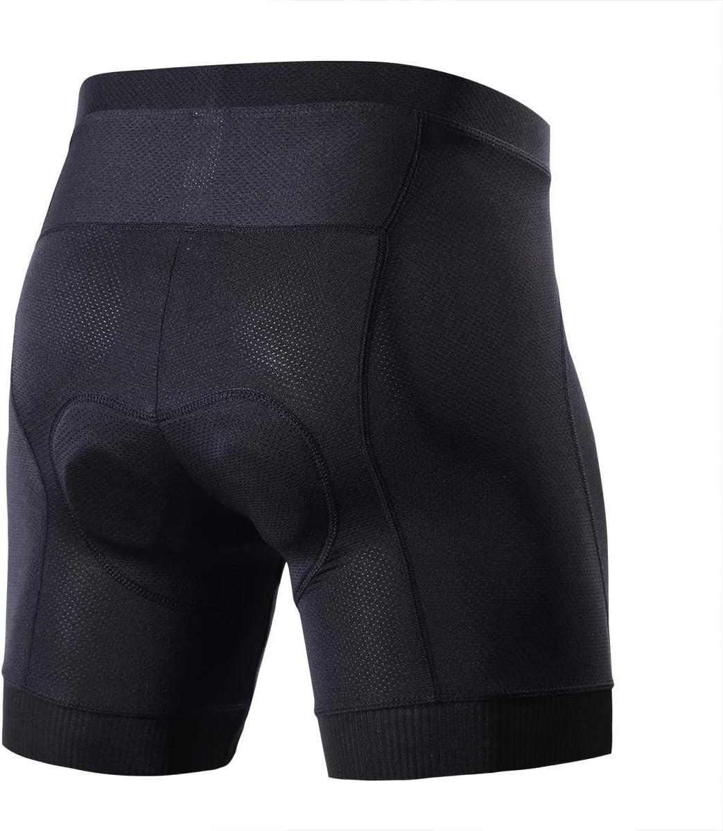 Souke Sports Pantaloncini da Ciclismo da Uomo Bici Mutande Biancheria Intima Imbottitie 4D Traspiranti Antiscivolo Antiurto