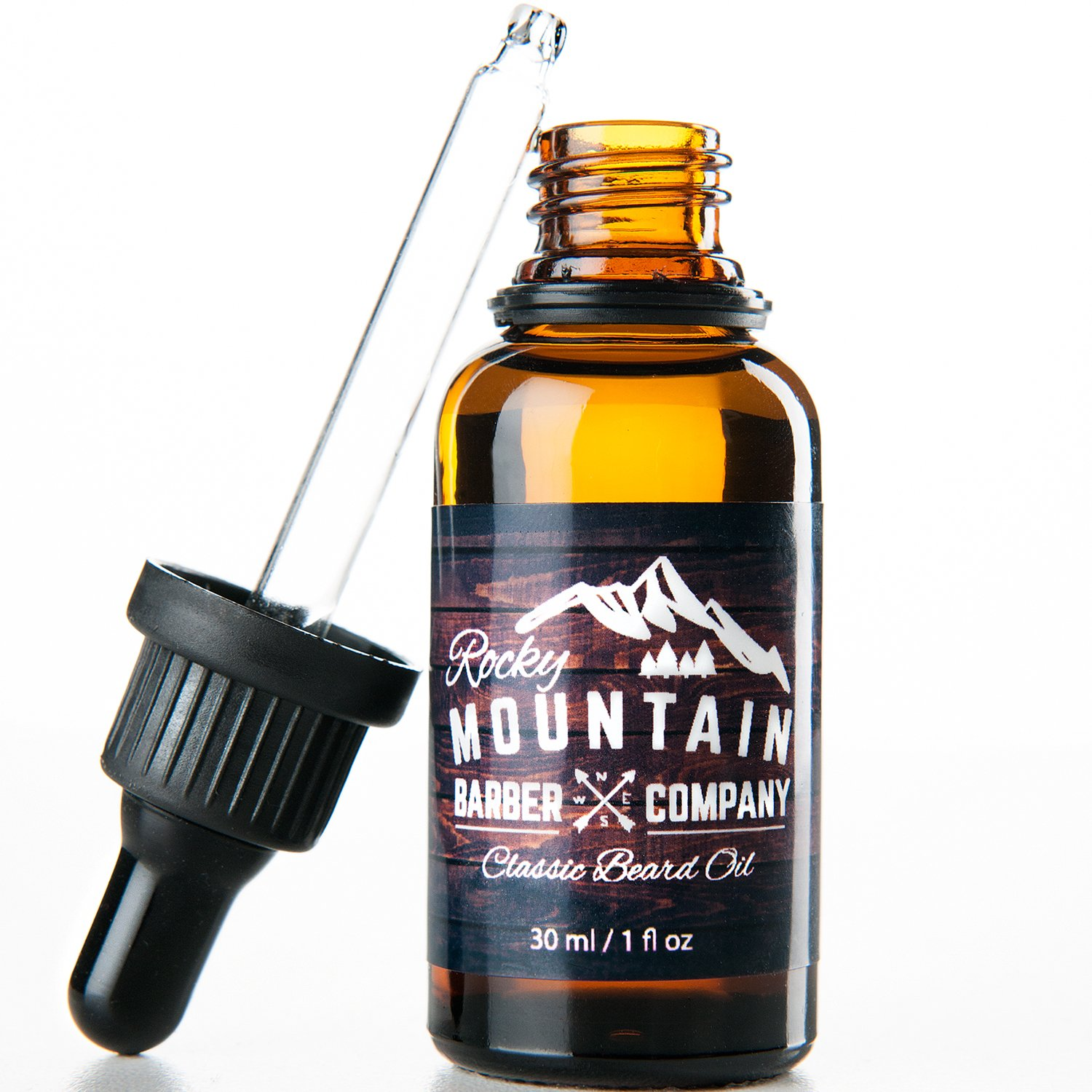 Beard Oil - Unscented - Premium, Cold-Pressed 9 Oil Blend with Jojoba, Coconut Oil by Rocky Mountain Barber Rocky Mountain Barber Company