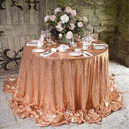 1fb0cbd2ba4d Image Unavailable. Image not available for. Color  QueenDream Luxury  Collection glitz round sequin tablecloth ...