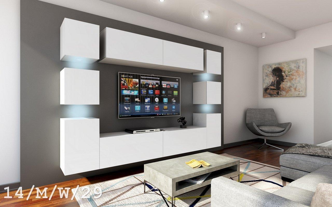 Amazon.de: Moderne Wohnwand, Serie: Future 14 14_M_W_29