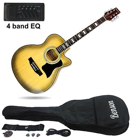 Benson eléctrico electro Cherry Burst Semi Guitarra Acústica