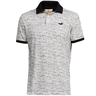 Hollister hombre con textura Slim Fit Pique Polo Shirt Tee