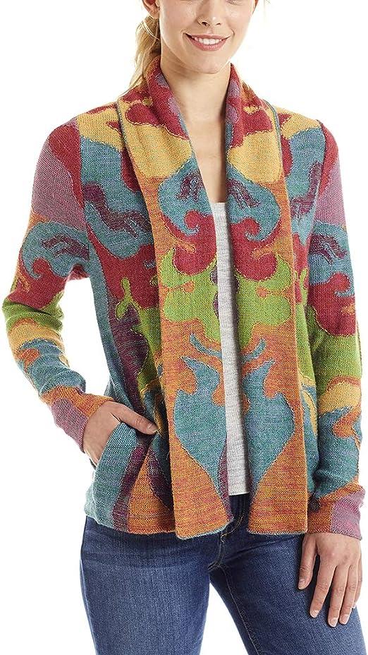 Invisible World Cardigan Lana di Alpaca Giacca Donna