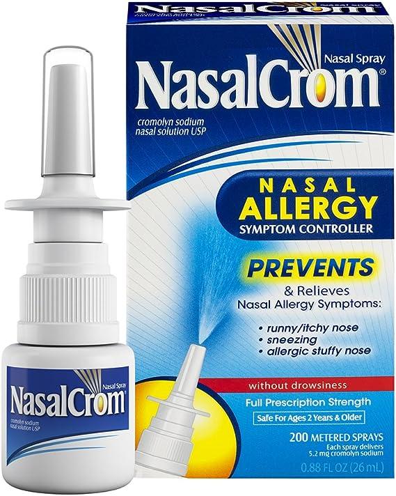 Amazon.com: NasalCrom Nasal Spray Allergy Symptom Controller | 200 Sprays | .88 FL OZ: Health & Personal Care