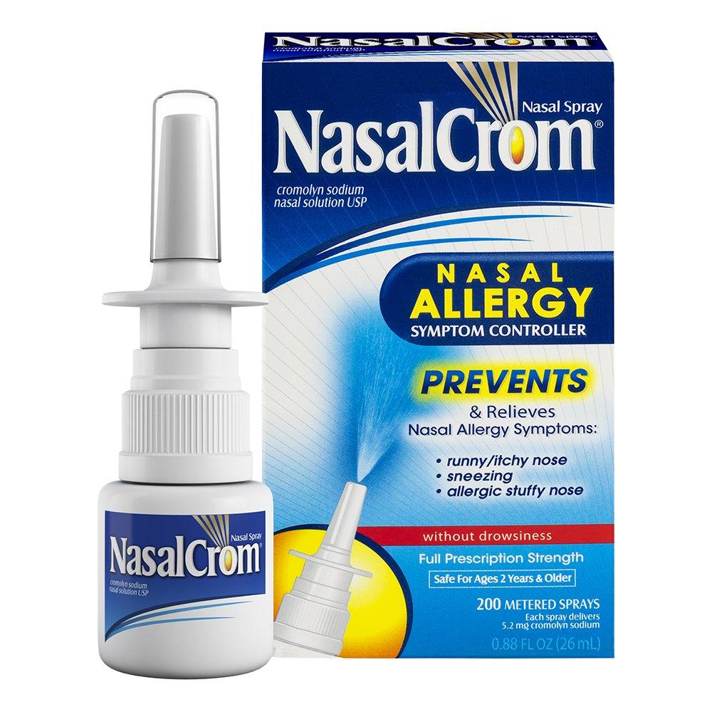 NasalCrom Nasal Spray Allergy Symptom Controller | 200 Sprays | .88 FL OZ by Nasal Crom