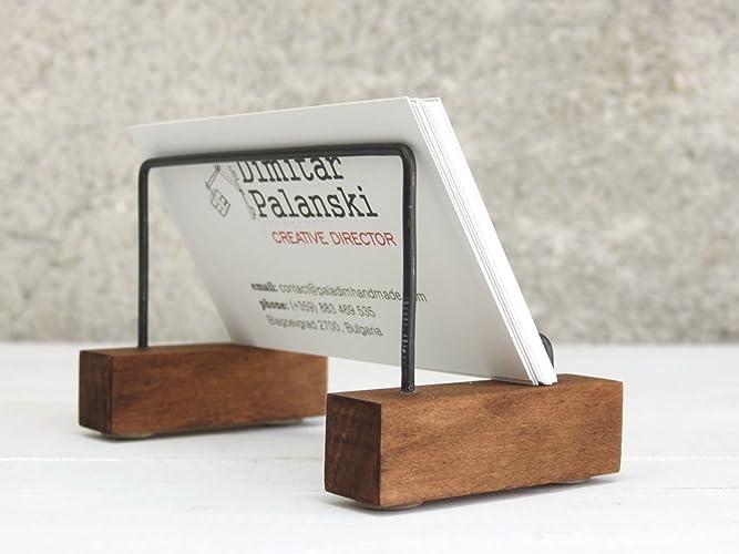 Amazon business card holder vizitak desk decor desk card business card holder quotvizitakquot desk decor desk card holder gift colourmoves