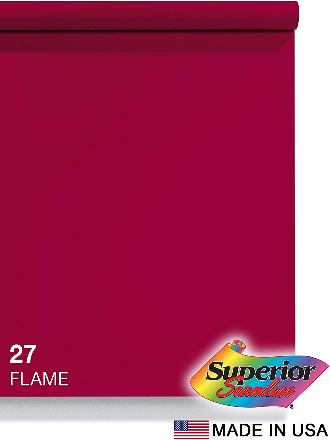 Superior Seamless Photography Background Paper, 27 Flame (53 inches Wide x 18 feet Long)