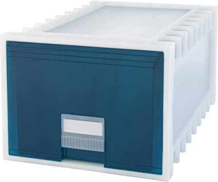 Superbe Storex 24 Inch Archive Storage Box For Letter Size Hanging Files,  Frosted/Aqua