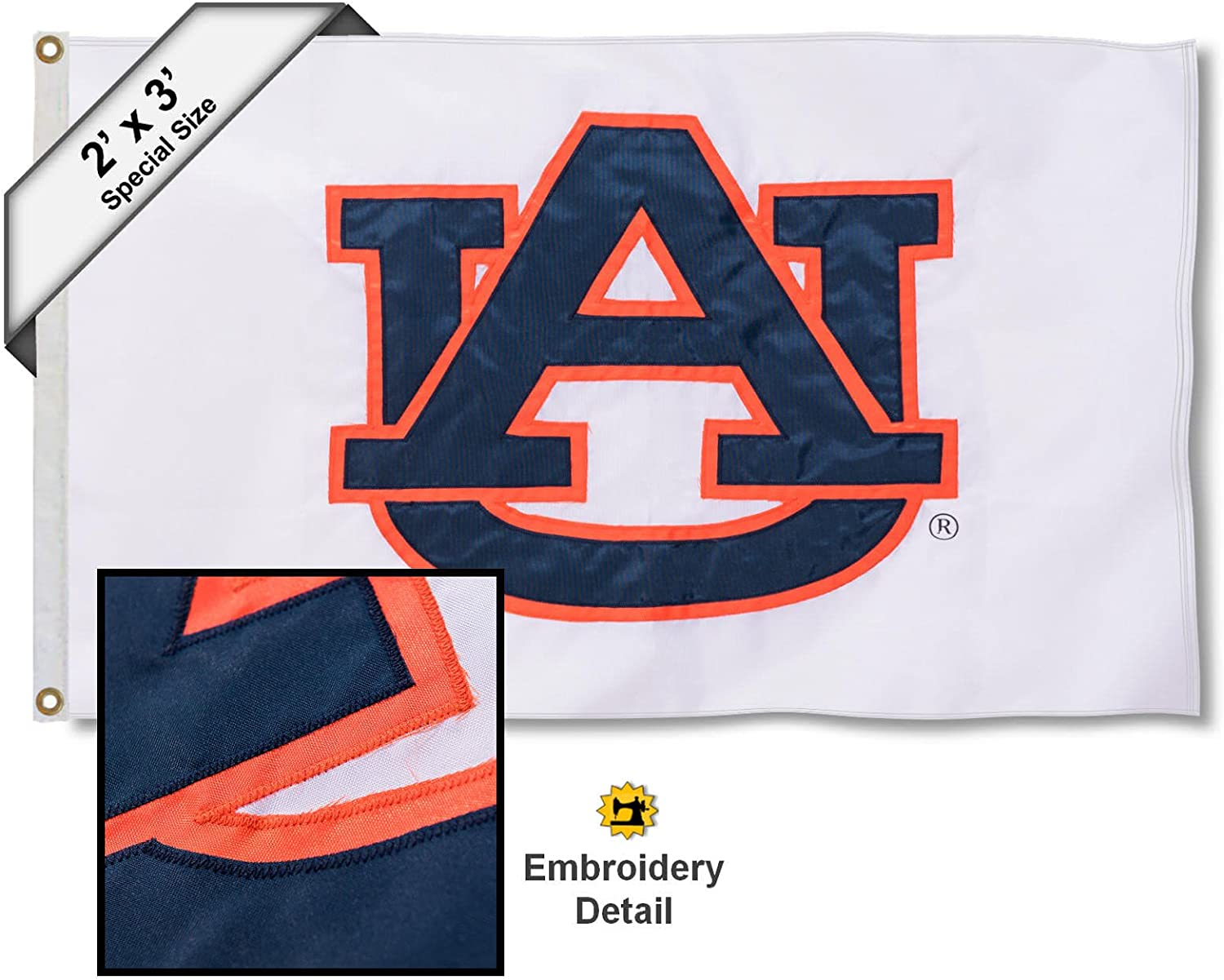 Auburn Tigers AL State Design Flag College Flags and Banners Co