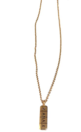 Xanax Gold Bar Pill Medical Necklace Amazoncom