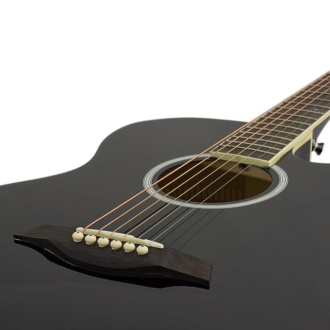 Tiger ACG4-BK - Guitarra electroacústica, color negro: Amazon.es: Instrumentos musicales
