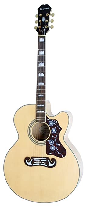 Epiphone EJ-200SCE - Guitarras electroacústicas, color natural