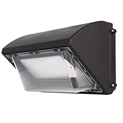 outdoor wall mounted lighting low profile exterior wall 80w led wall pack fixture 5000k daylight led light 10400lumen security lighting ip65