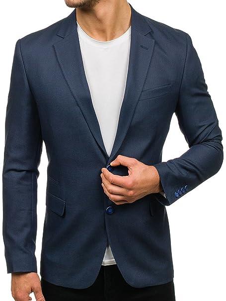 BOLF Hombre Americana Blazer Traje Elegante Slim Fit 4D4 Mix: Amazon.es: Ropa y accesorios