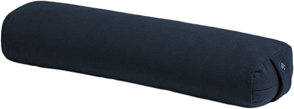 Manduka Enlight Lean Yoga Bolster - Absorbent and Supportive, with Soft Microfiber Removable Cover