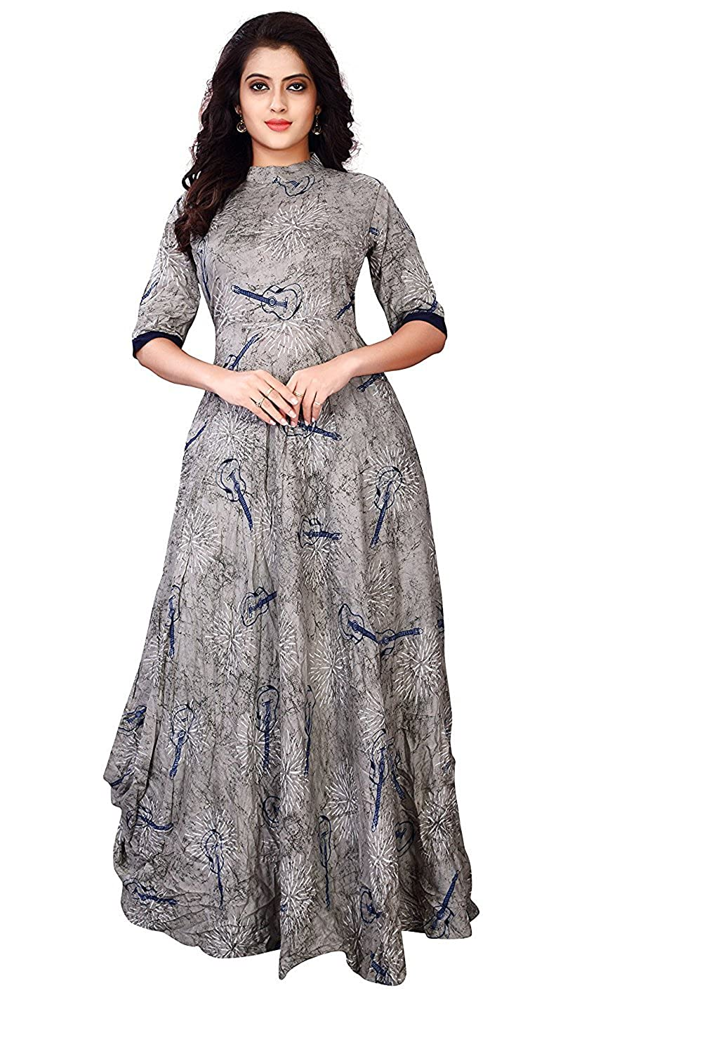 Women's Grey Printed Dress