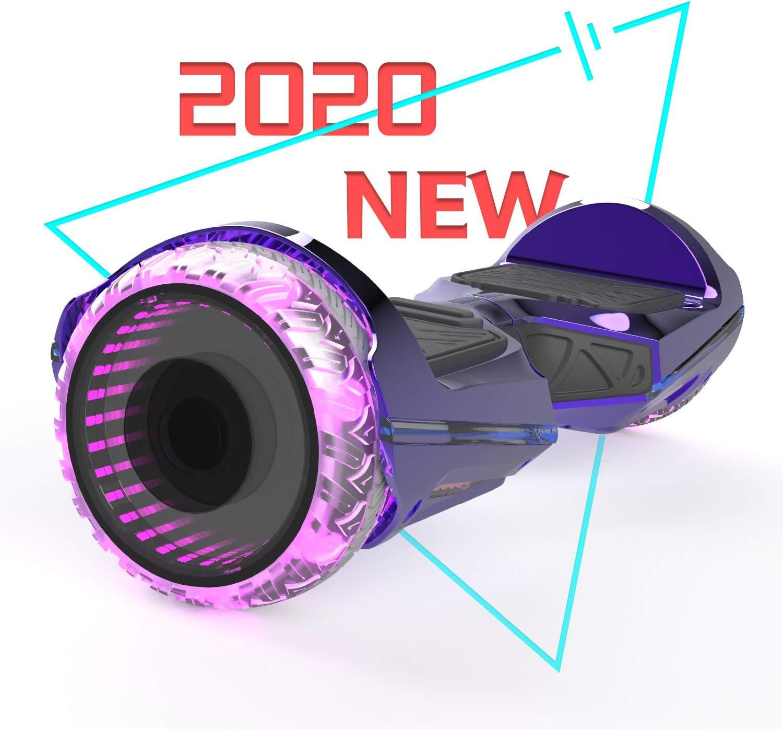 Patinete Eléctrico Hoverboard, Hover 6.5 Pulgadas Board Leds, Potente batería de Litio, Bluetooth, Self Balancing, monopatín eléctrico Auto-Equilibrio