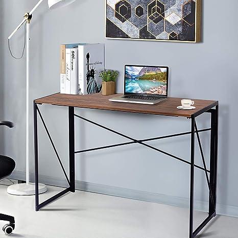 Amazon.com: Tangkula Mesa plegable, escritorio para ...