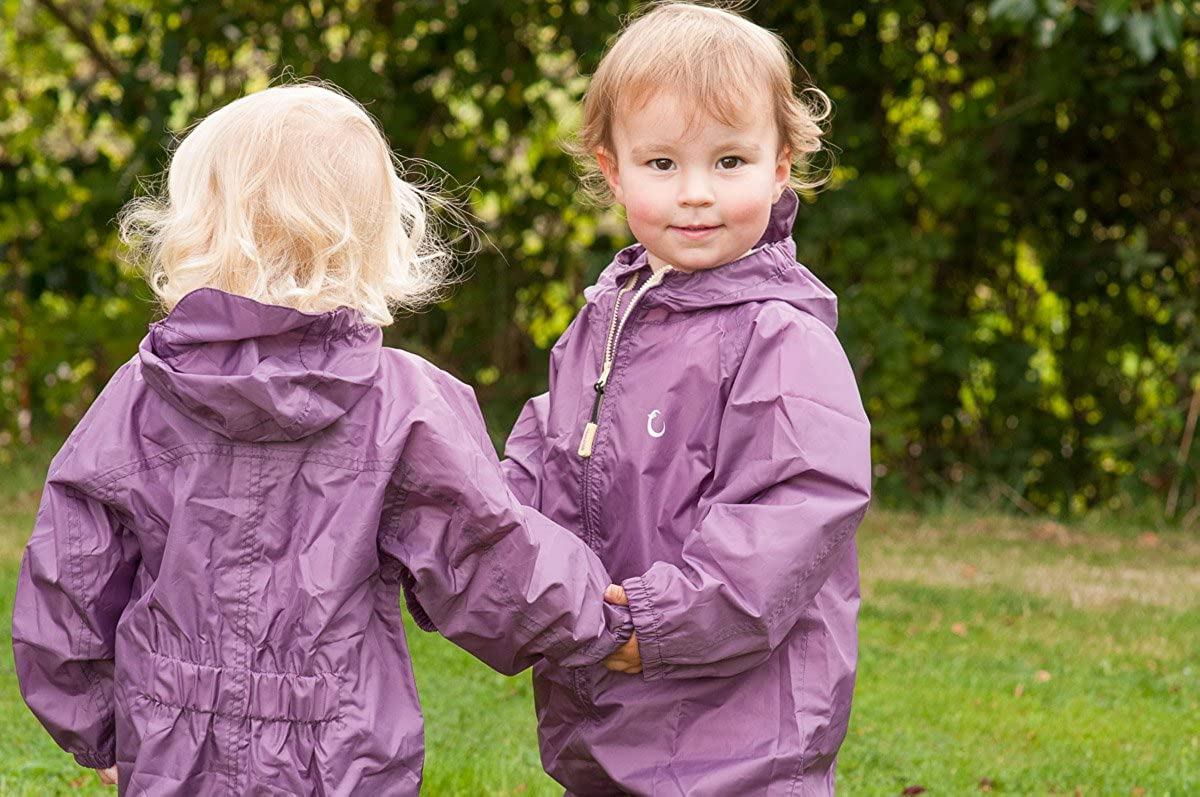 Baby Girls Hippychick Packasuit Waterproof Rain Jacket.pink