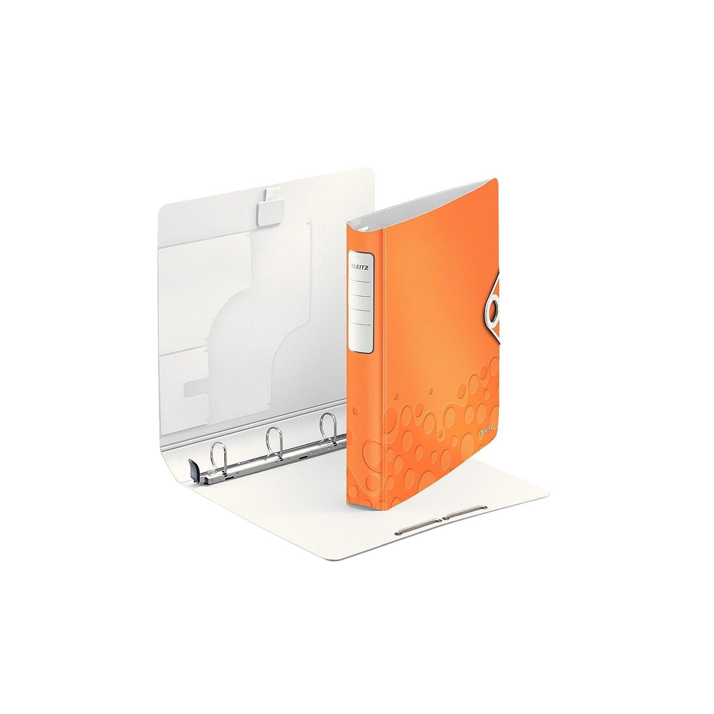 Formato A4 Chiusura a elastico Leitz Active WOW 42400023 Raccoglitore a 4 anelli SoftClick Polyfoam leggero Dorso 5.2 cm Fucsia metallizzato
