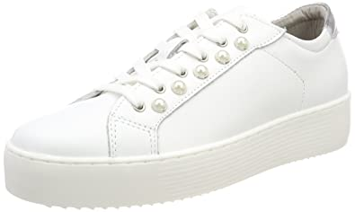 Tamaris Damen 23770 Sneaker, Weiß (White Leather), 39 EU