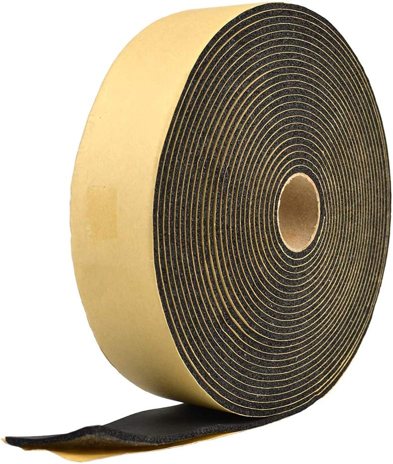 FAVORCOOL Foam Insulation Tape Self Adhesive,Pipe Ice Freeze Protection,Seal Windows Doors,Weatherstrip,Waterproof,Plumbing,HVAC,Cooling,Air Conditioning,Weather Stripping,Craft Tape 30ft 1//8 x 2