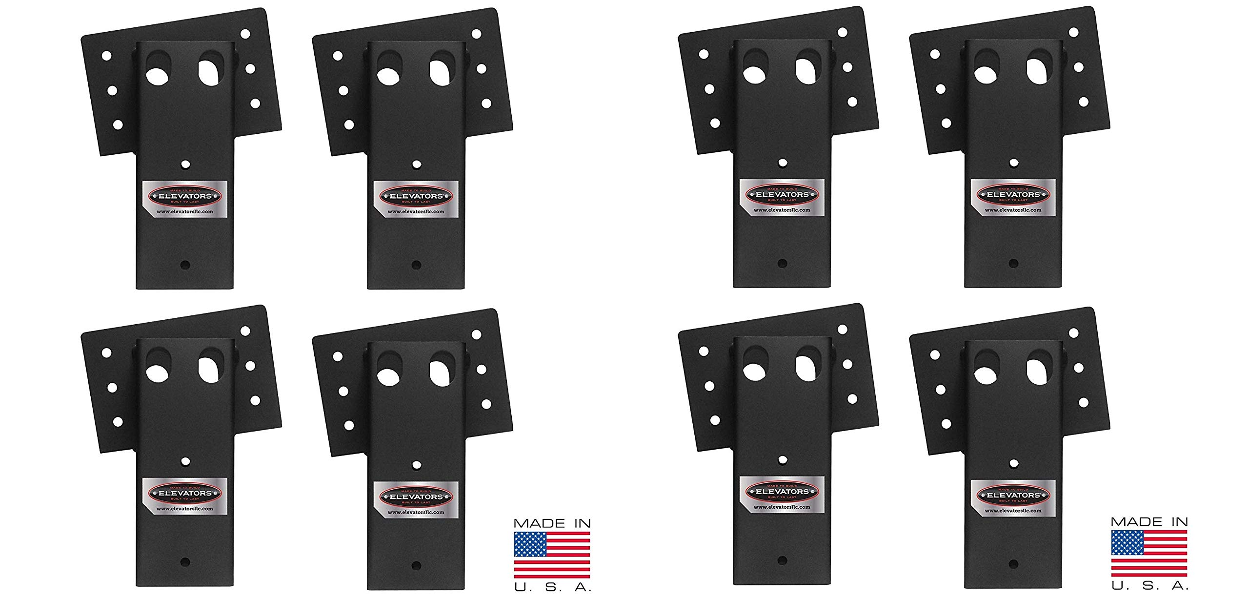 Elevators 4x4 Brackets for Deer Blinds, Playhouses, Swing Sets, Tree Houses. Made in The USA with Premium Construction Grade Steel (2 X Pack of 4)