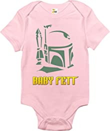 Rapunzie Baby Fett Baby Bodysuit Cute Funny Baby Clothes for Infant Boys and Girls