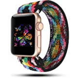 YOSWAN Stretchy Loop Strap Compatible for Apple Watch Band 40mm 38mm iWatch Series 6/5/4/3/2/1 Stretch Elastics Wristbelt