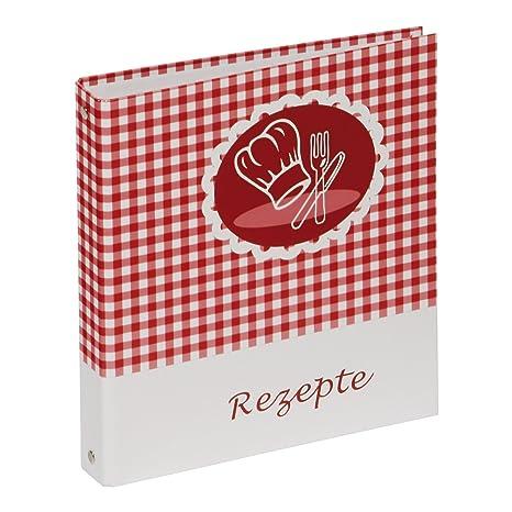 Pagna Ringbuch - Archivador con anillas para recetas de cocina A5, rojo