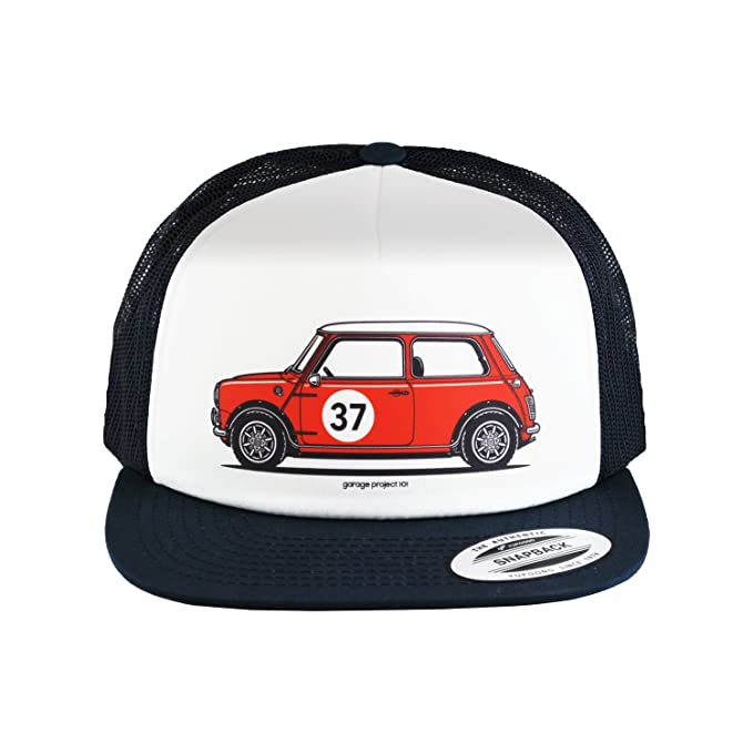 Image Unavailable. Image not available for. Color  GarageProject101 Classic Mini  Cooper S Side Baseball Mesh Cap Snapback Trucker Hat 4a2248468716