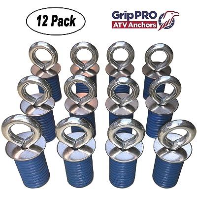 GripPRO ATV Anchors fit Polaris Lock & Ride ATV Tie Down Anchors RZR, Sportsman - Set of 12 - DOES NOT FIT RANGER: Automotive