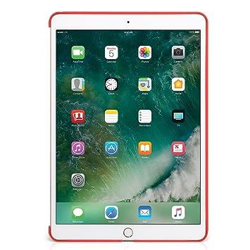 KHOMO Carcasa Funda Trasera Roja iPad 9.7 2018, 2017, iPad Air - Compatible con Smart Cover - para Apple iPad 9.7 2018 y 2017 - Companion Red