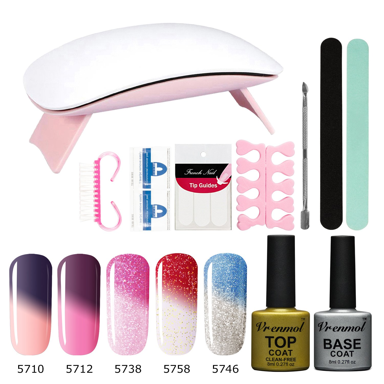 Amazon.com : Vrenmol Gel Nail Polish Set, Soak Off UV LED ...