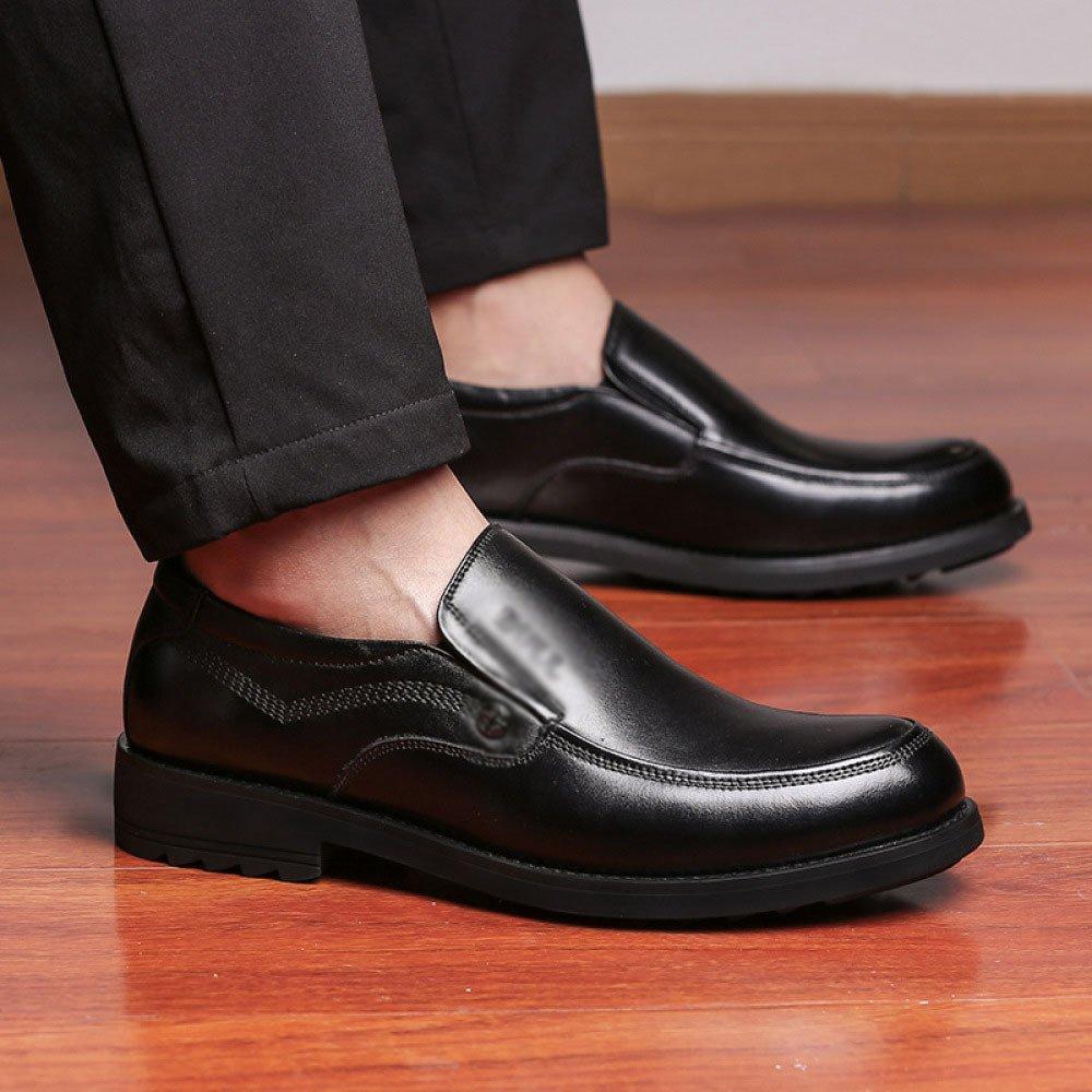 LYZGF Männer Vier Jahreszeiten Von Britisch Geschäftlich Gelegenheitsspiele Mode Von Jahreszeiten Mittlerem Alter Papa Fahren Lederschuhe schwarz a6bb79