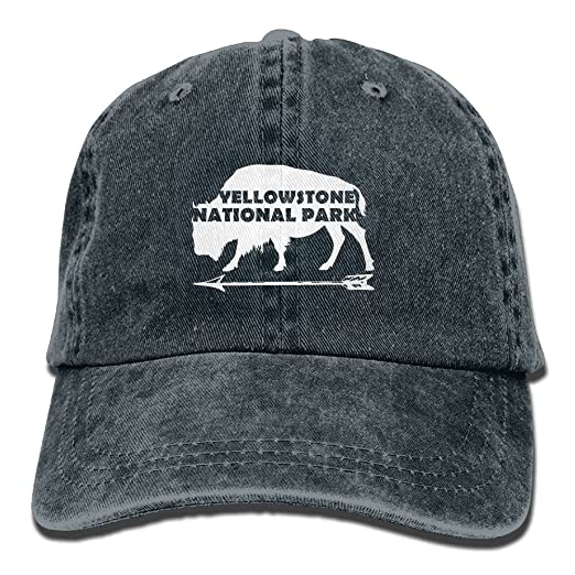 114fd645 Image Unavailable. Image not available for. Color: Yellowstone National  Park Old Faithful Washed Retro Jeans Cap Trucker ...