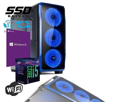 PC Desktop Gaming Cristal Intel i5-8400 RAM 8GB SSD 480GB WiFi ...