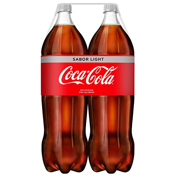 Coca-Cola - Light, Botella de Plástico 2 L (Pack de 2)