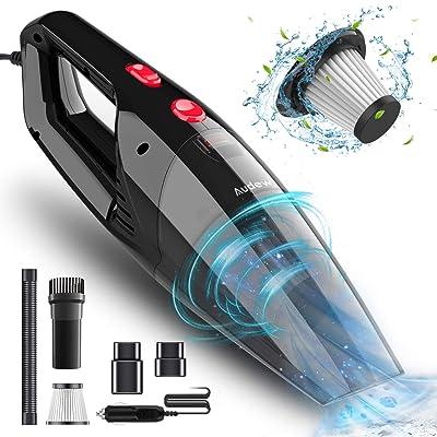 Audew Car Vacuum Cleaner, Portable Vacuum Cleaner for Car, 5500PA High Power Handheld Vacuum, Wet Dry Car Hand Vac DC 12V Corded Vacuum Cleaner: Automotive