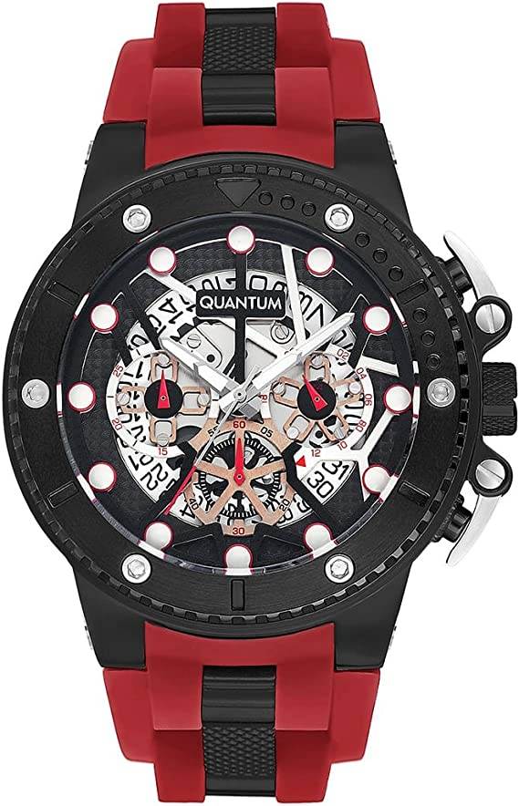 Quantum Men's Watch Quasar Hunter Chronograph (Blood Red