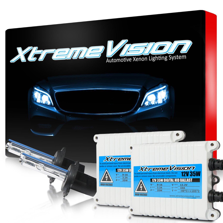 XtremeVision AC 35W HID Xenon Conversion Kit Premium Slim Ballast - H7 6000K - Light Blue - 2 Year Warranty