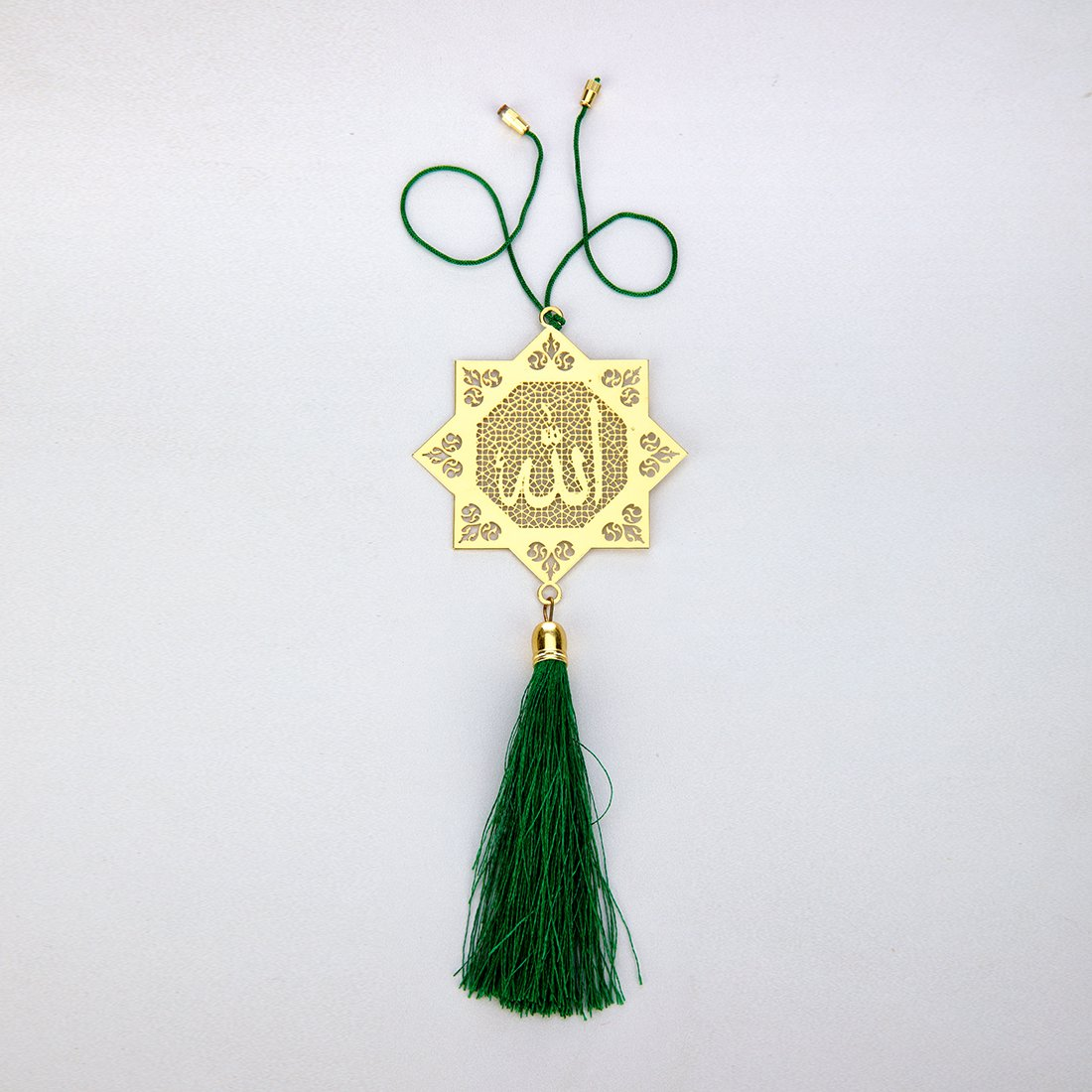 ADORAA Islamic Muslim Allah - Rear View Mirror Car Hanging Ornament/Perfect Car Charm Pendant/Amulet - Accessories for Car Dé cor in Brass for Divine Blessings & Safety/Protection Transcending Horizons Pvt Ltd