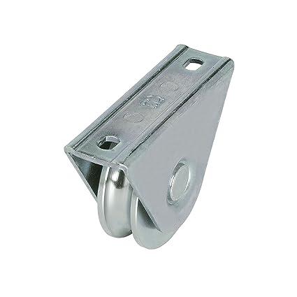 Rueda para puertas correderas (80 mm), con 20 mm rundnute y anschraubplatte