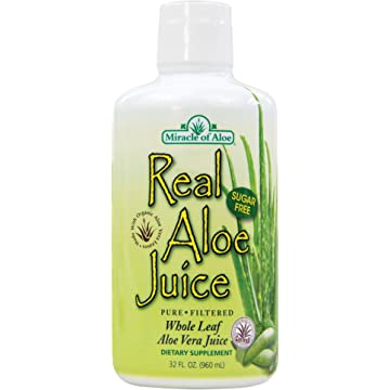 Real Aloe Whole-Leaf Pure Aloe Vera Juice - Made from Organically Grown Aloe Vera Leaves Purified & Filtered