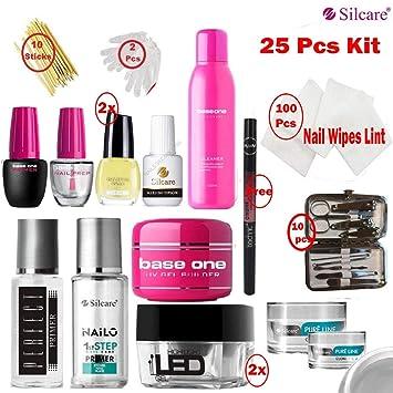 Silcare Base One - Limpiador de uñas de gel UV, LED, pura línea ...