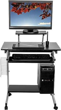 Mari Home - Southwell Negro escritorio de la computadora Mesa de ...