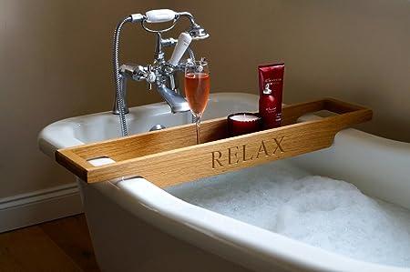 Personalised Wooden Bath Rack: Amazon.co.uk: Kitchen & Home